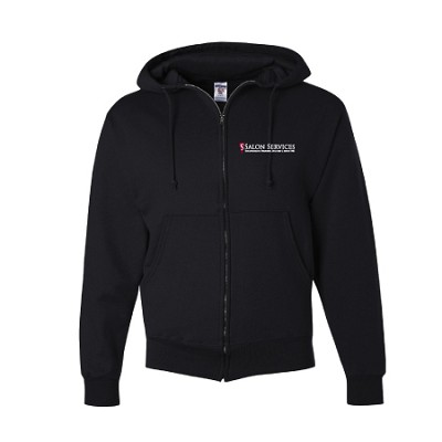 Unisex SS Full Zip Hoodie  - Available Colors: Black, White, Heather Red