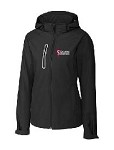 Women's Waterproof Black Rain Jacket