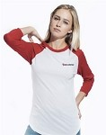 SS Unisex 3/4 Sleeve Baseball Tee - Colors: Black/Athletic Heather, White/Black, White/Red